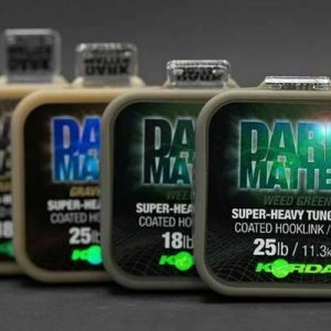 Korda Dark Matter Super Heavy Tungsten Coated Hooklink 18lb Weed Green