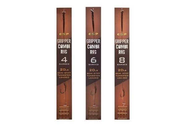 Esp Gripper Combi Rig Barbed 8 Brown