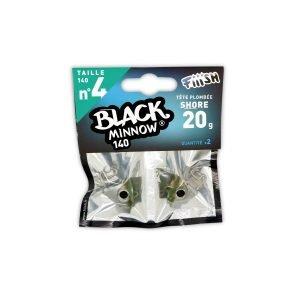 Fiiish Black Minnow 140 Jig Heads Shore - 20g - Khaki