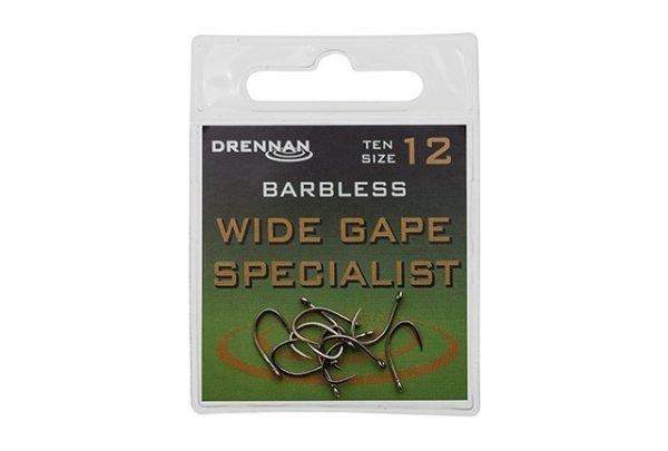 Drennan Wide Gape Barbless Specialist Size 8