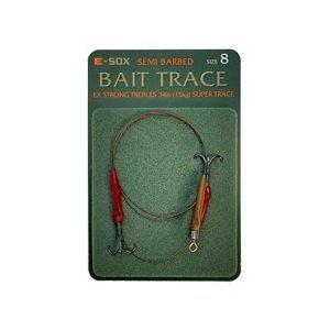 Drennan E-Sox Semi Barbed Bait Trace Size 8