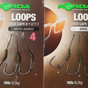 Korda Loop Rig Wide Gape Size 4 Microbarbed