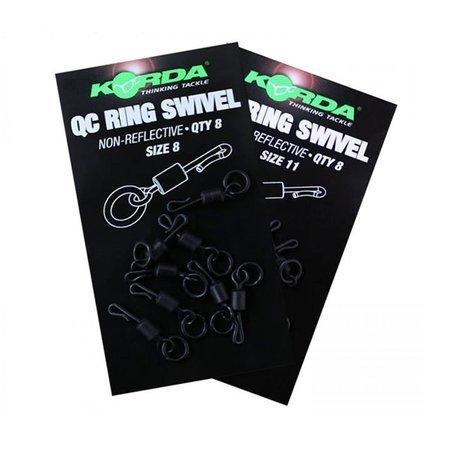 Korda Quick Change Ring Swivels Size 8