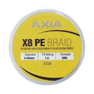 Axia Braid X8 Pe1.5 0.20mm 20lb 300m