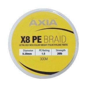 Axia Braid X8 Pe1.5 0.20mm 20lb 300m