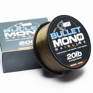Nash Bullet Mono 20lb Brown