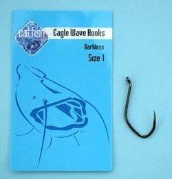 Catfish-Pro Barbless Eagle Wave Hooks Size 1