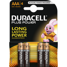 Duracell Plus Aaa Battery 4 Pack